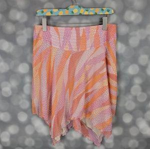 BeBe Asymmetrical Silk Skirt